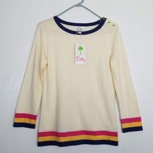 NWT Lilly Pulitzer Cora Crew color block sweater